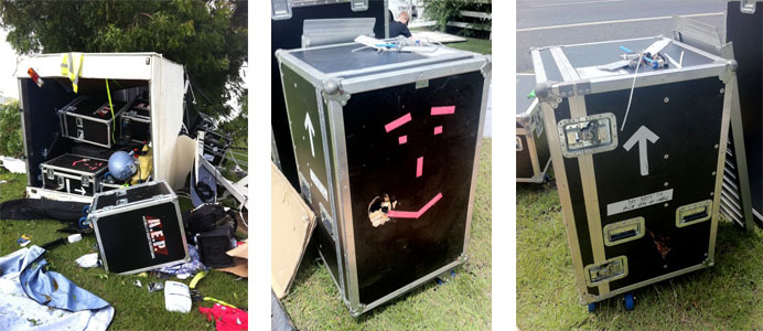 Trailer Crash - Customers Equipment Cases - Qld Protective Cases