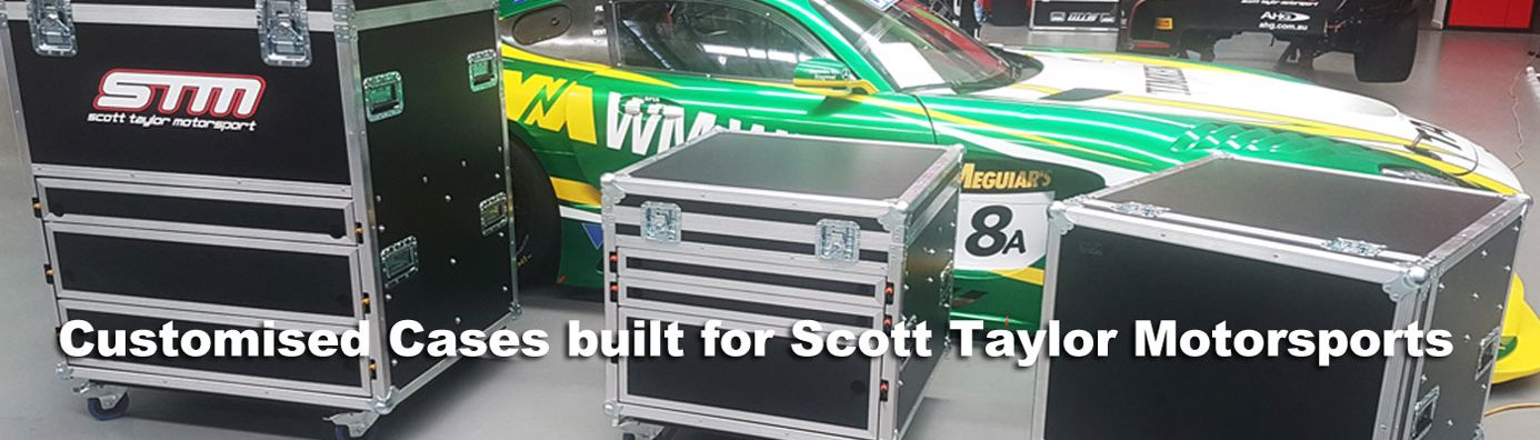Customised cases for Scott Taylor Motorsports built by Qld Protective Cases located in Brendale, Queensland