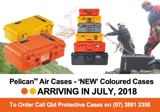 Pelican Air Coloured Cases - Qld Protective Cases, Brisbane