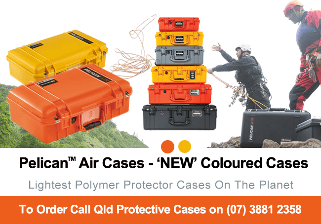 Pelican Air Cases - New Coloured Cases - Qld Protective Cases, Brisbane