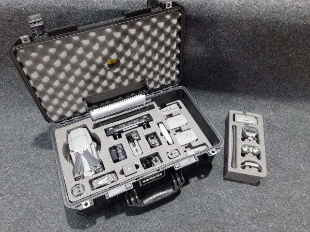 Pelican 1535 Pelican Air case with custom foam to suit DJI Mavic 2 Enterprise custom fitted by Qld Protective Cases in Brendale, Brisbane